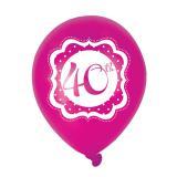 "Luftballons ""Pretty Pink"" 40. Geburtstag 6er Pack"
