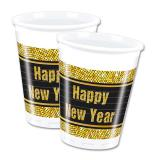 "Plastikbecher ""Glamour New Year"" 8er Pack"