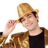 Popstar-Hut mit Pailletten-gold