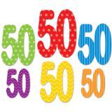 """Raumdeko """"Bunte Punkte & Streifen"""" - 50. Geburtstag 6-tlg."""