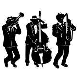 Raumdeko Jazz Band 46 cm 3-tlg.