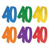 "Raumdeko Jubiläums-Zahl ""40"" 29 cm"