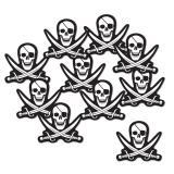 Raumdeko Piratenschädel 10er Pack