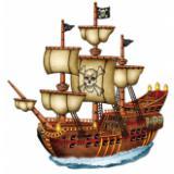 Raumdeko Piratenschiff 79 cm