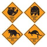 "Wanddeko-Schilder ""Australisches Outback"" 4er Pack"