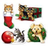 """Raumdeko """"Weihnachts-Haustiere"""" 4-tlg."""