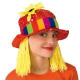Clownshut mit Sonnenblume & gelben Haaren