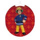 """Runde Laterne """"Mutiger Feuerwehrmann Sam"""" 23 cm"""