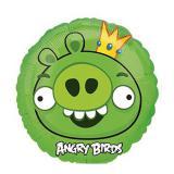 """Runder Folien-Ballon """"Angry Birds - King Pig"""" 23 cm"""