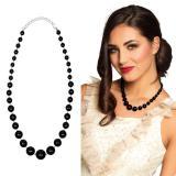 """Schwarze Perlenkette """"Ladylike"""" 48 cm"""