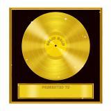 Selbstklebende Wanddeko Goldene Schallplatte 29,5 cm