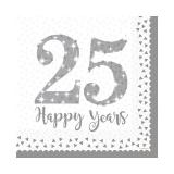"Servietten ""25 Happy Years"" 16er Pack"