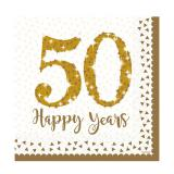 "Servietten ""50 Happy Years"" 16er Pack"
