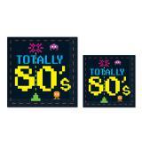 Servietten 80er Jahre-Style 16er Pack