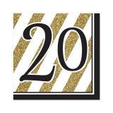 "Servietten ""Black & Gold 20"" 16er Pack"