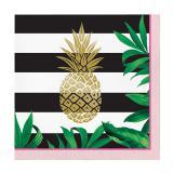 """Servietten """"Goldene Ananas"""" 16er Pack"""