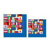 "Servietten ""Internationale Flaggen"" 16er Pack"