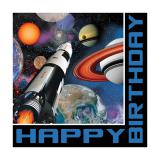 "Servietten Happy Birthday ""Space Shuttle und Planeten"" 16er Pack"