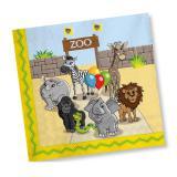 """Servietten """"Willkommen im Zoo"""" 20er Pack"""