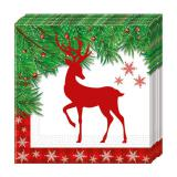 "Servietten ""X-Mas Deer"" 20er Pack"
