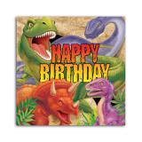 """Servietten zum Geburtstag """"Gefährliche Dinosaurier"""" 16er Pack"""