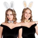 Sexy Bunny Deluxe-Set Haarreif & Fliege