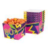 """Snack-Boxen """"Wilde 80er Party"""" 6er Pack"""