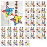 """Spiral-Deckenhänger mit Zahl """"Happy Crazy Birthday"""" 2er Pack-16"""