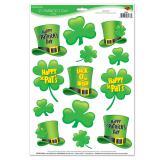 """Statisch haftende Aufkleber """"St. Patrick's Day"""" 13-tlg."""