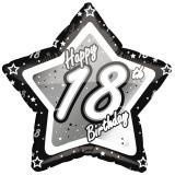 "Sternförmiger Folien-Ballon ""Happy Birthday Stars 18"" 45 cm"