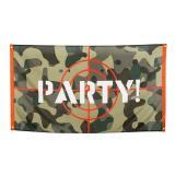 """Stoff-Banner """"Stylischer Camouflage-Style"""" 150 x 90 cm"""