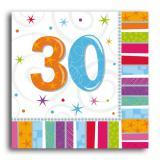 """Servietten 30 """"Strahlender Geburtstag"""" 16er Pack"""