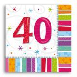 """Servietten 40 """"Strahlender Geburtstag"""" 16er Pack"""