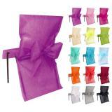 Stuhlhusse mit Schleife Deko-Vlies 10er Pack