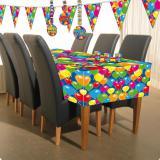 """Tischdecke """"Happy Birthday Bunte Ballons"""" 180 cm"""