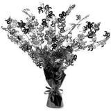 """Tischdeko Fontäne """"Happy 30th!"""" Black & White 38 cm"""
