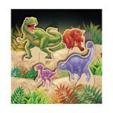 """Tischdeko """"Gefährliche Dinosaurier"""" 4-tlg."""