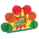 Tischdeko Happy Fiesta mit Wabenpapier 25 cm