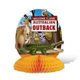 "Tischdeko mit Wabenpapier ""Australian Outback"" 25 cm"
