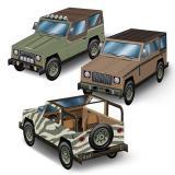 "Tischdeko ""Safari SUVs"" 3-tlg."