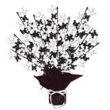 Tischdeko Totenkopf-Fontäne Black & White 38 cm