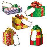 """Tischdeko """"Weihnachtliche Geschenke"""" 10-tlg."""