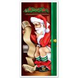 """Türdeko """"Stilles Örtchen"""" Weihnachtsmann 76 x 152 cm"""