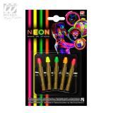 """UV Leucht-Make-Up Stifte """"Neon Farben"""" 5er Set"""