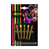 "UV Leucht-Make-Up Stifte ""Neon Farben"" 5er Set"