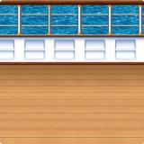 Wanddeko An Deck des Traumschiffs 1,2 x 9,1 m