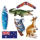 "Wanddeko ""Australien"" 6-tlg."