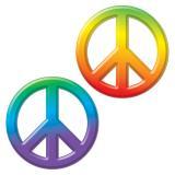 """3D-Wanddeko """"Batik und Peace"""" 23 cm"""