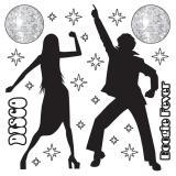 Wanddeko Disco Dancing 22-tlg.