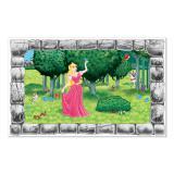 """Wanddeko """"Fenster zum Garten der Prinzessin"""" 157 cm"""